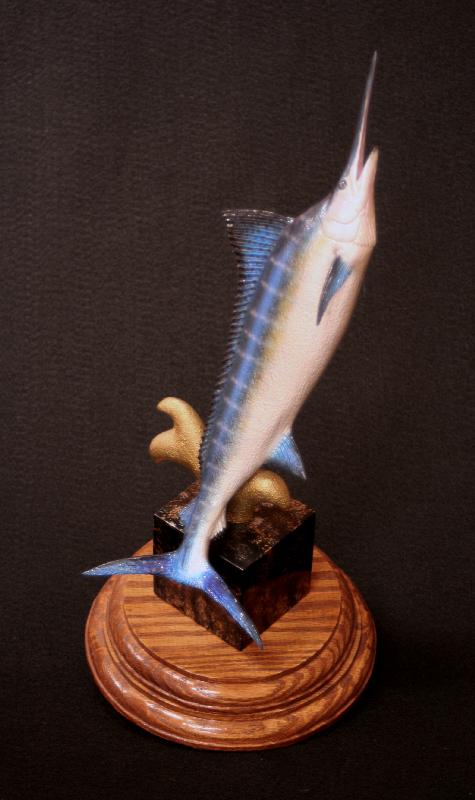 Marine life art and fish wood carvings