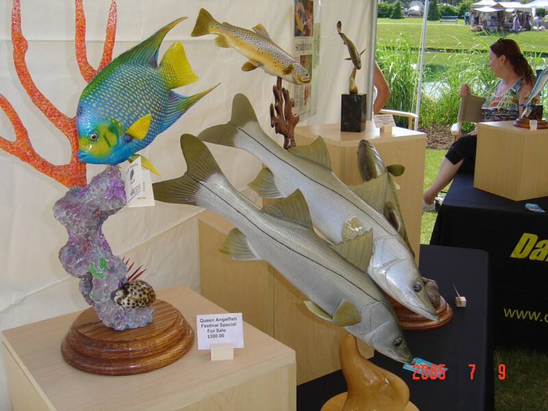 "2005 ""Best of Show"" - FISH CARVINGS - FISH SCULPTURES - FISH REPLICAS"