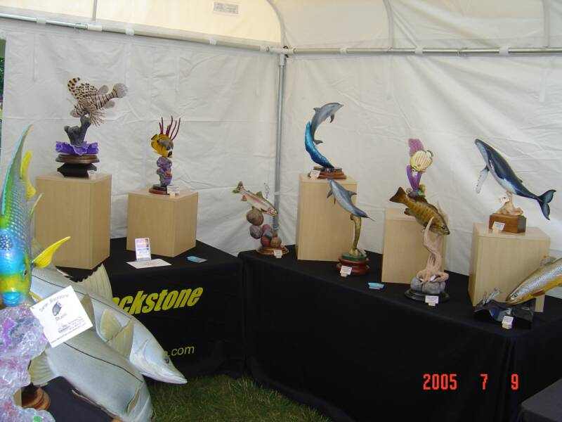 "2005 ""Best of Show"" - WILDLIFE WOOD CARVINGS - WILDLIFE ART - GAME FISH REPLICAS"