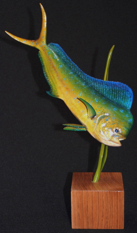 Marine life art and fish wood carvings